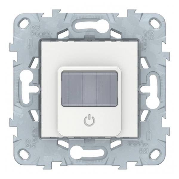 Фото - Датчик движения Schneider Electric Unica NEW NU552518 скрытая установка белый с выключателем датчик движения rubetek evo 1 5 в ip20