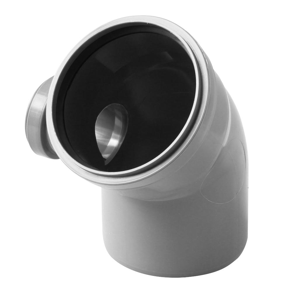 Отвод Polytron Comfort d110х50 мм 45° левый