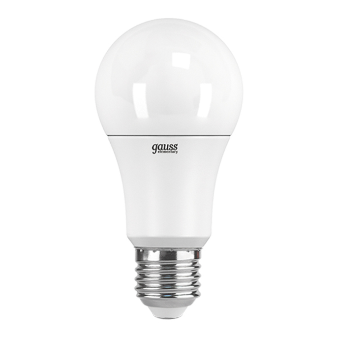 Лампа светодиодная Gauss Elementary 10 Вт E27 груша A60 3000 К теплый свет 180-240 В матовая