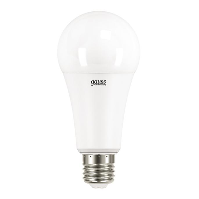 Лампа светодиодная Gauss Elementary 35 Вт E27 груша A67 4100 К дневной свет 180-240 В матовая