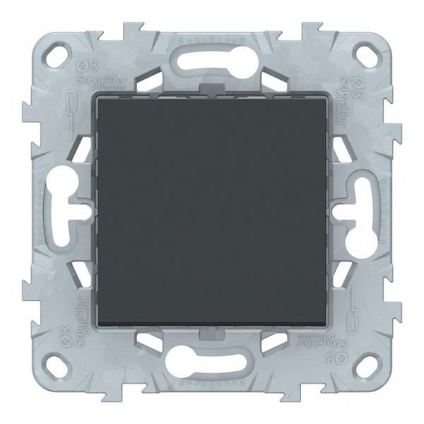 Переключатель Schneider Electric Unica NEW NU520554 одноклавишный перекрестный скрытая установка антрацит