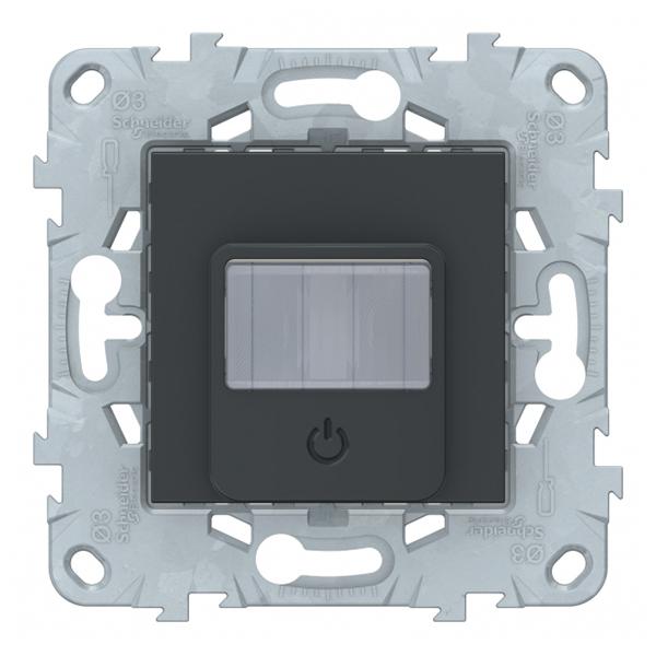 Фото - Датчик движения Schneider Electric Unica NEW NU552554 скрытая установка антрацит с выключателем датчик движения rubetek evo 1 5 в ip20