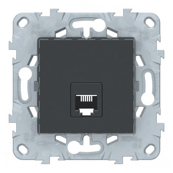 Розетка телефонная Schneider Electric Unica NEW NU549254 скрытая установка антрацит один модуль RJ11