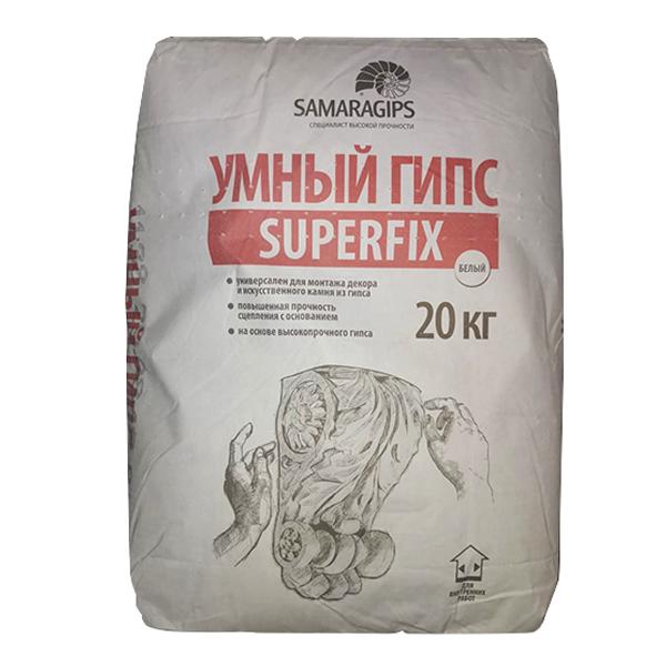 Клей монтажный для лепнины Superfix Умный гипс 20 кг