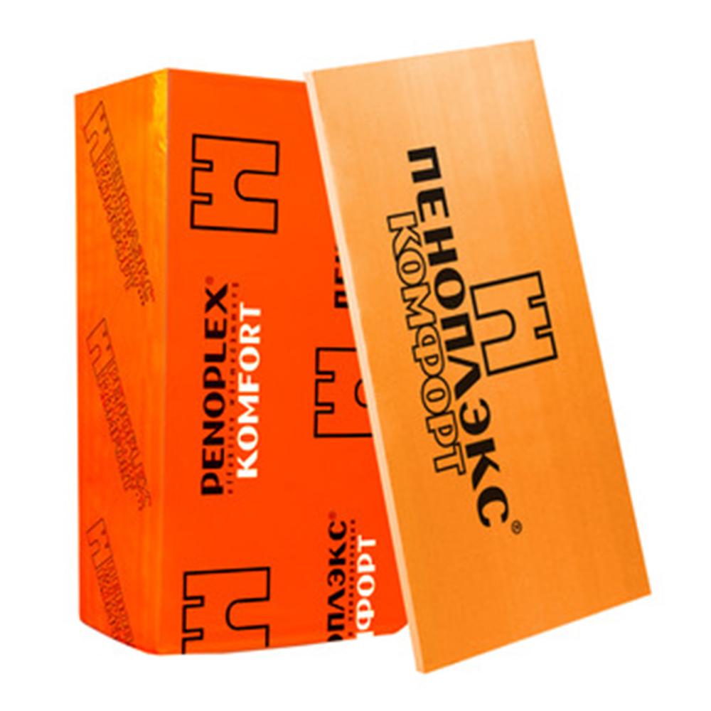 Экструдированный пенополистирол Пеноплэкс Комфорт 20х585х1185 мм пенополистирол для стен xps 1200х600х100 мм пеноплэкс