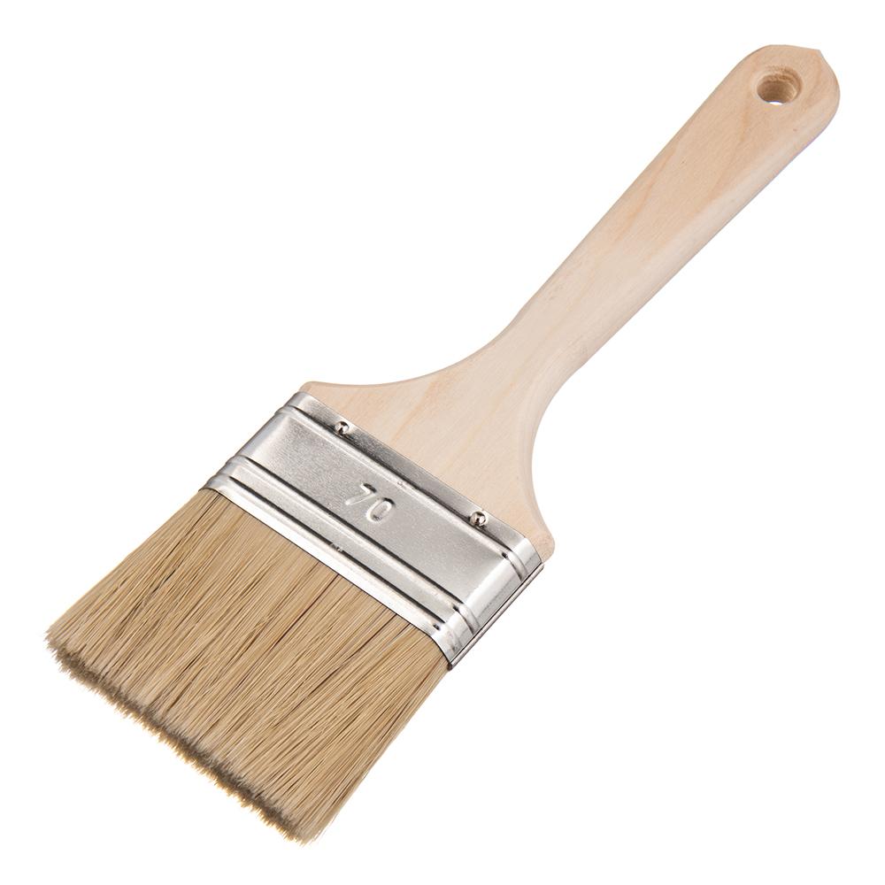 Фото - Кисть плоская натуральная щетина Wenzo Wood 70х15 мм для эмалей и лаков на алкидной основе кисть плоская натуральная щетина wenzo pro 25х15 мм для эмалей и лаков на алкидной основе