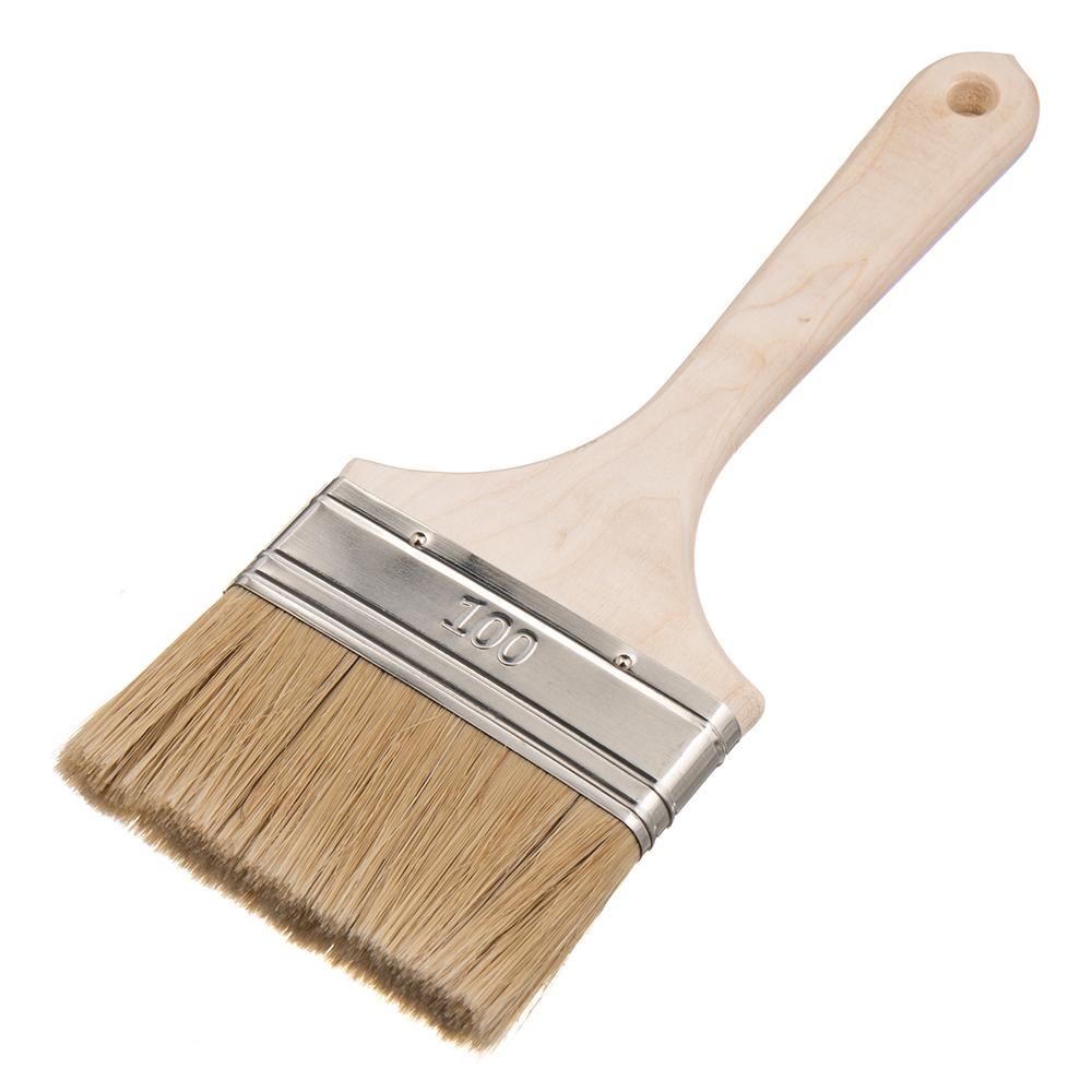 Фото - Кисть плоская натуральная щетина Wenzo Wood 100х15 мм для эмалей и лаков на алкидной основе кисть плоская натуральная щетина wenzo pro 25х15 мм для эмалей и лаков на алкидной основе