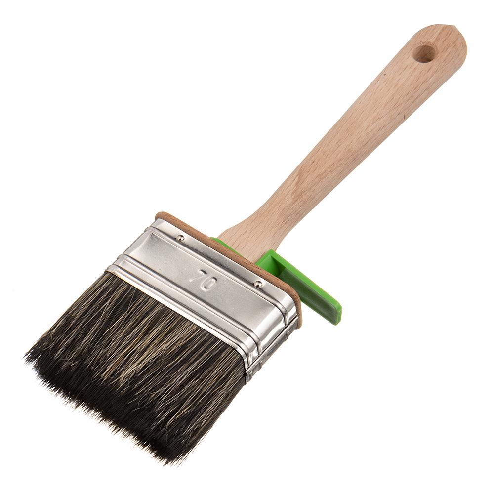 Кисть плоская смешанная щетина Лазурный берег 70х25 мм для красок и антисептиков на водной основе цена 2017