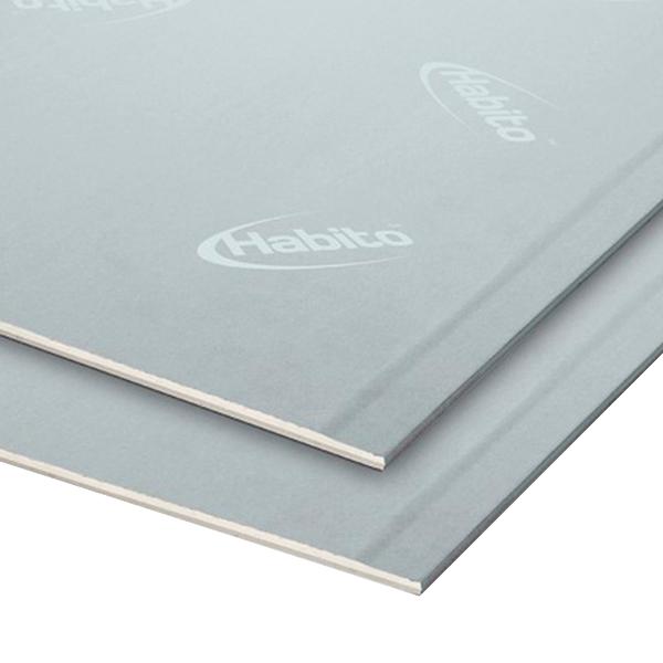 Лист стеклофибровый Gyproc Хабито 2500x1200x12,5мм высокопрочный звукоизоляционный фото