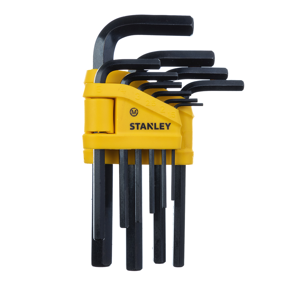 Набор шестигранных ключей Stanley 1,5-10 мм (0-69-253) (10 шт.) набор торцевых шестигранных ключей на кольце 8 шт fit 64003