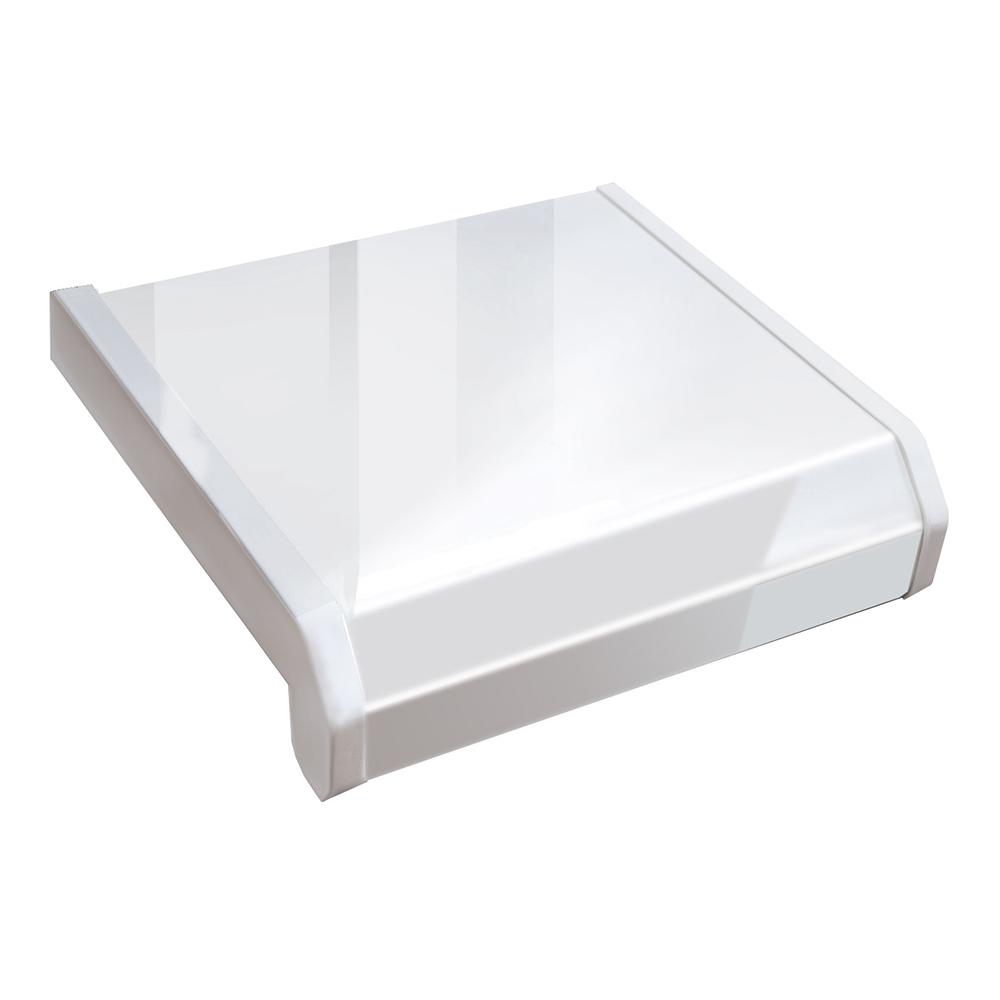 Подоконник пластиковый Danke Lucido Bianko Премиум 400х2000х18 мм белый глянец