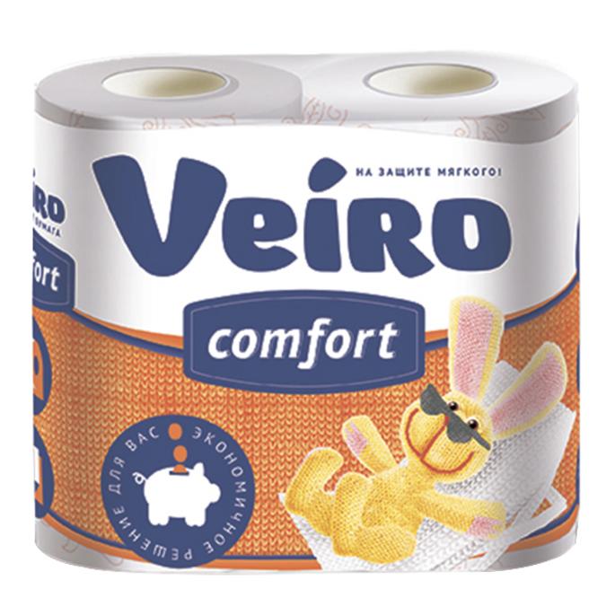 Бумага туалетная Veiro двухслойная 4 рулона