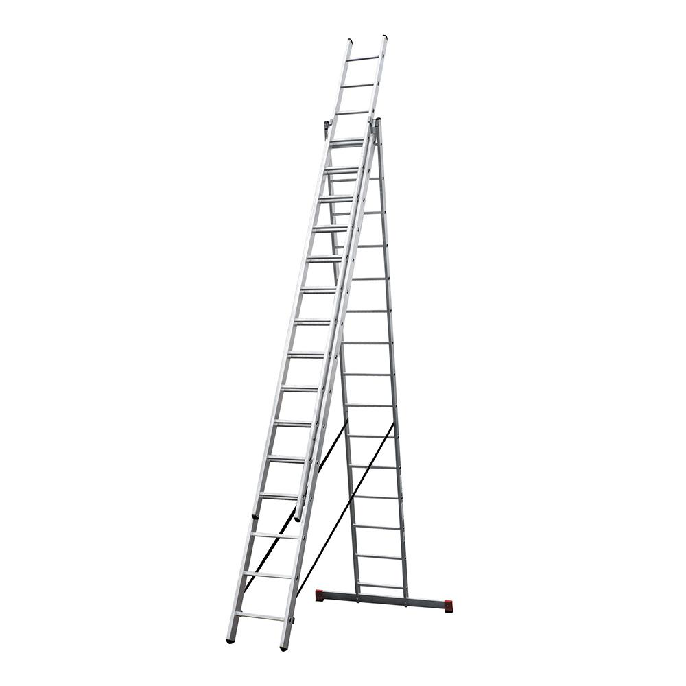 Фото - Лестница трансформер Новая высота NV 100 трехсекционная алюминиевая 3х15 профессиональная стремянка новая высота nv 5110 8 ступеней алюминиевая усиленная