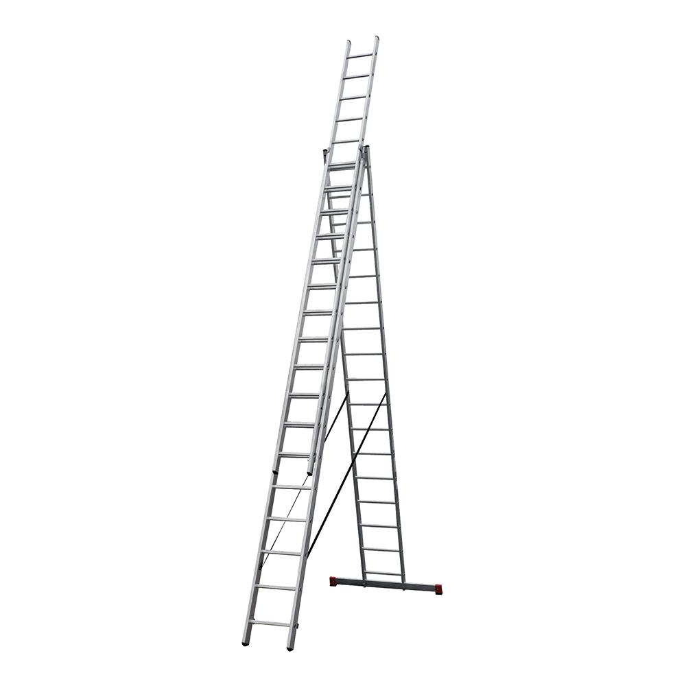 Лестница трансформер Новая высота NV 100 трехсекционная алюминиевая 3х17 профессиональная