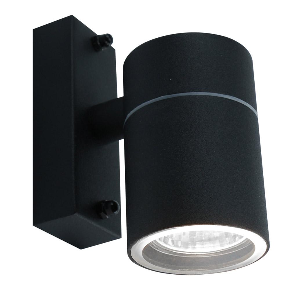 Светильник уличный настенный ARTE LAMP MISTERO (A3302AL-1BK) GU10 35 Вт 220 В IP44 светильник накладной arte lamp a3102al 1wh gu10 90x80x70 мм 35 вт 220 в ip44 белый