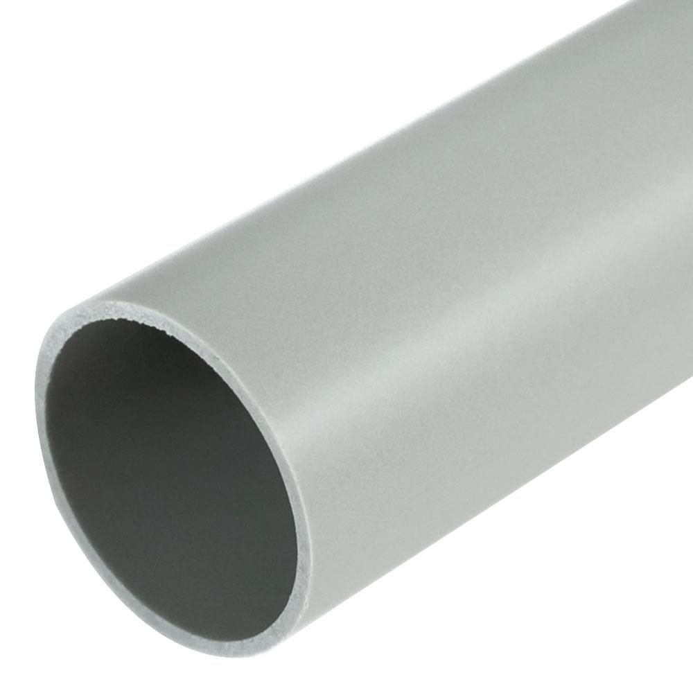 Труба ПВХ 32 мм гладкая жесткая (3 м) серая фото