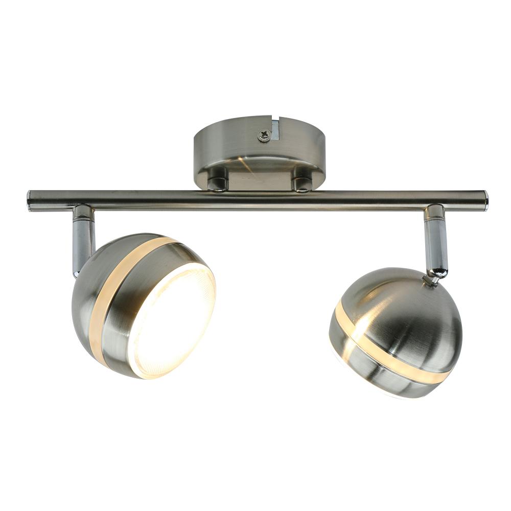 Спот ARTE LAMP A6009PL-2SS LED 5 Вт 220 В 3000 К IP20 матовое серебро