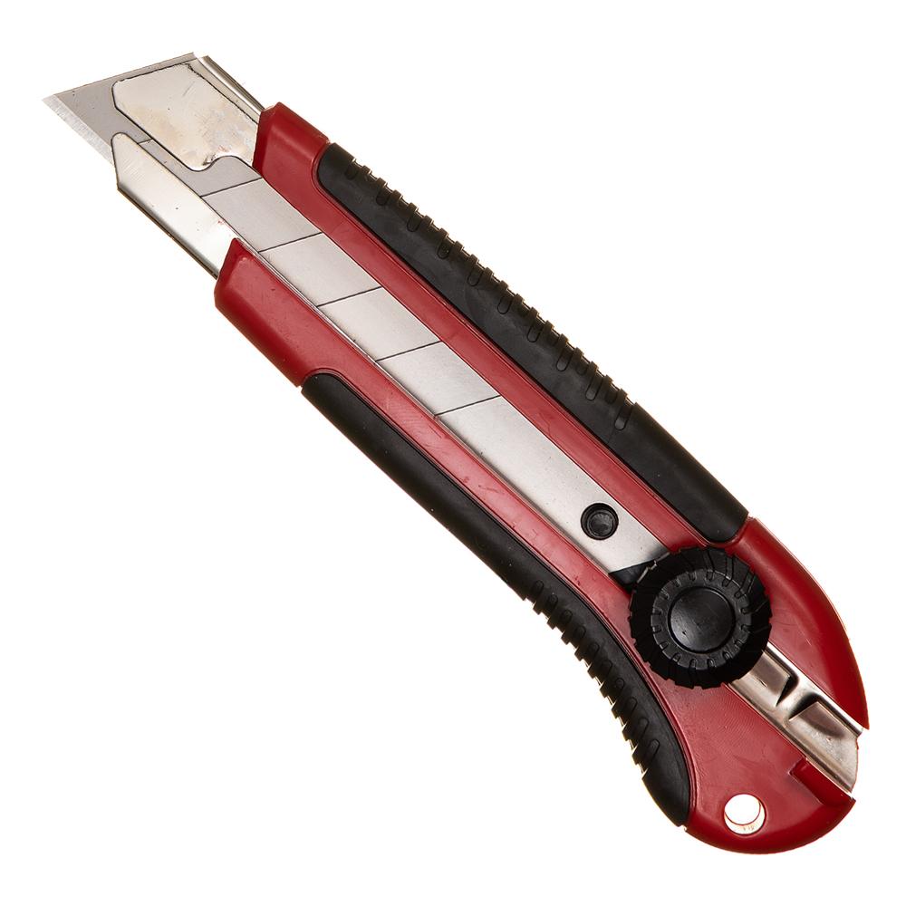 Нож строительный Hesler 25 мм с ломающимся лезвием пластиковый корпус с винтовым фиксатором кеннел с на острие ножа роман