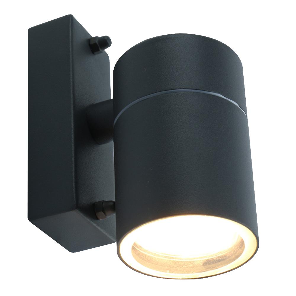 Светильник уличный настенный ARTE LAMP MISTERO (A3302AL-1GY) GU10 35 Вт 220 В IP44 светильник накладной arte lamp a3102al 1wh gu10 90x80x70 мм 35 вт 220 в ip44 белый