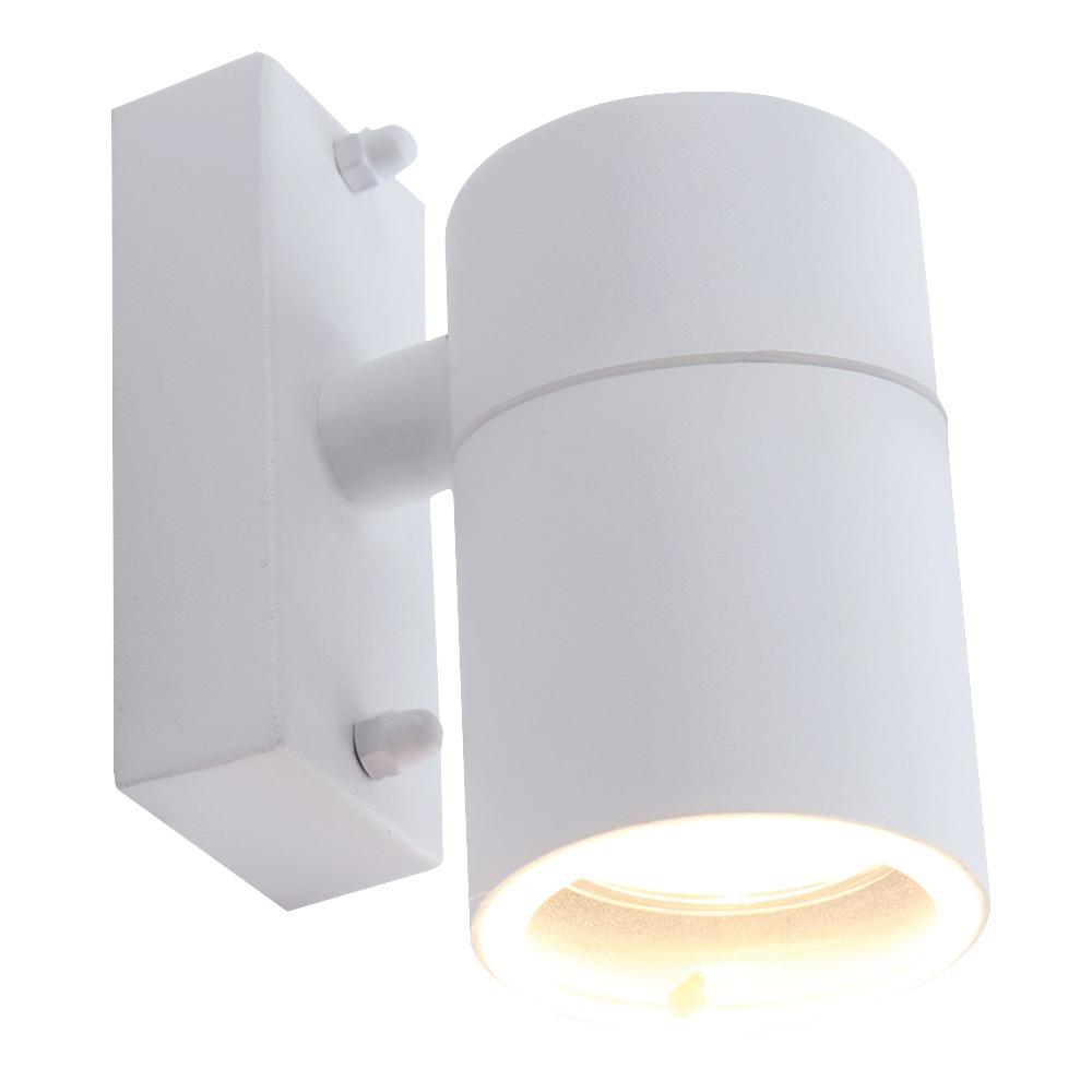 Светильник уличный настенный ARTE LAMP MISTERO (A3302AL-1WH) GU10 35 Вт 220 В IP44 светильник накладной arte lamp a3102al 1wh gu10 90x80x70 мм 35 вт 220 в ip44 белый