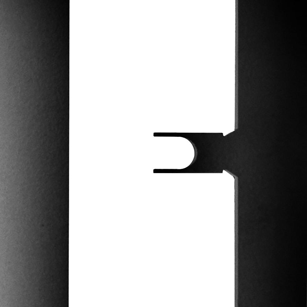 Элемент решетки белый матовый «мама» 10х40х600 мм Грильято ячейка 100х100 мм фото