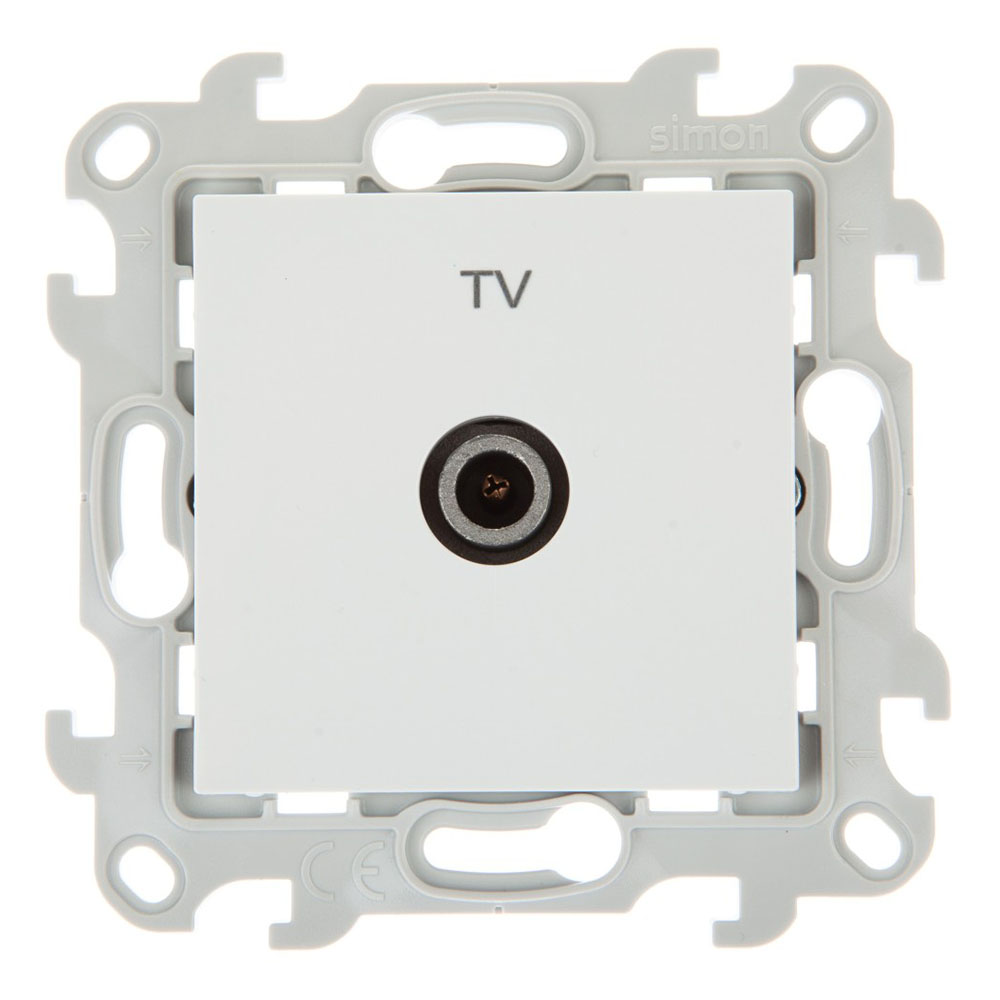 Розетка телевизионнная Simon 24 Harmonie 2450477-030 одиночная TV скрытая установка белая