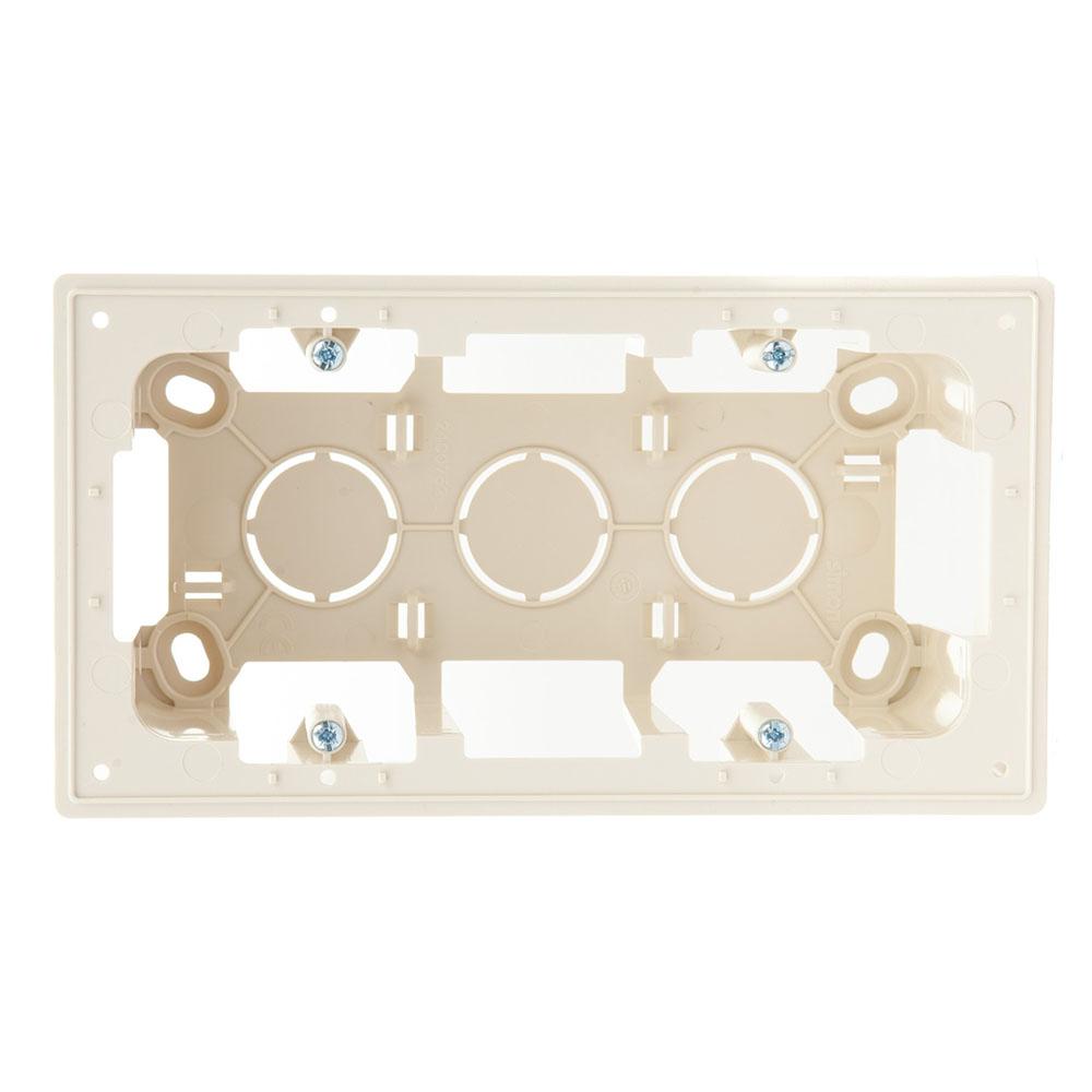 Коробка монтажная без рамки Simon 24 Harmonie двухместная 2400752-031 открытая установка слоновая кость
