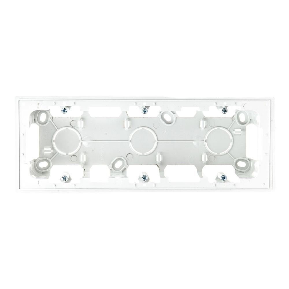 Коробка монтажная без рамки Simon 24 Harmonie трехместная 2400753-030 открытая установка белая
