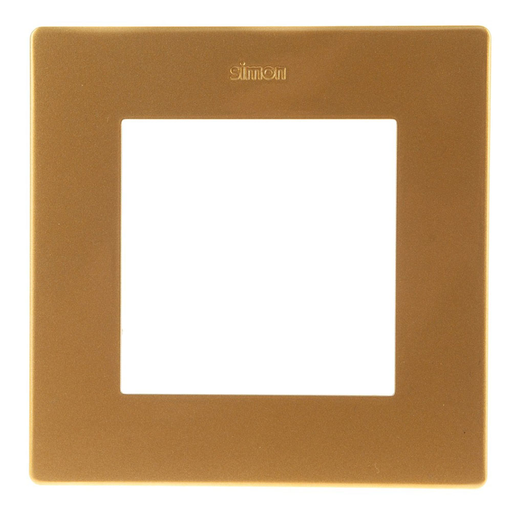 Рамка Simon 24 Harmonie 2400610-066 одноместная универсальная золото рамка simon 24 harmonie 2400630 066 трехместная универсальная золото
