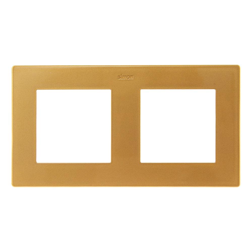 Рамка Simon 24 Harmonie 2400620-066 двухместная универсальная золото рамка simon 24 harmonie 2400630 066 трехместная универсальная золото