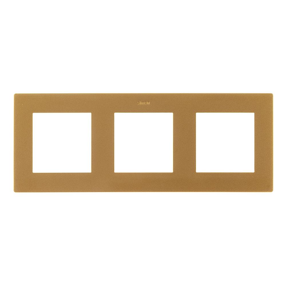 Рамка Simon 24 Harmonie 2400630-066 трехместная универсальная золото рамка simon 24 harmonie 2400630 066 трехместная универсальная золото