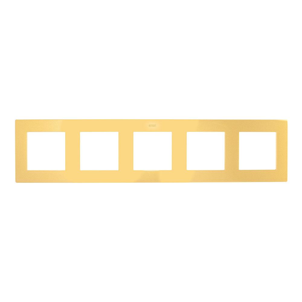 Рамка Simon 24 Harmonie 2400650-066 пятиместная универсальная золото рамка simon 24 harmonie 2400630 066 трехместная универсальная золото