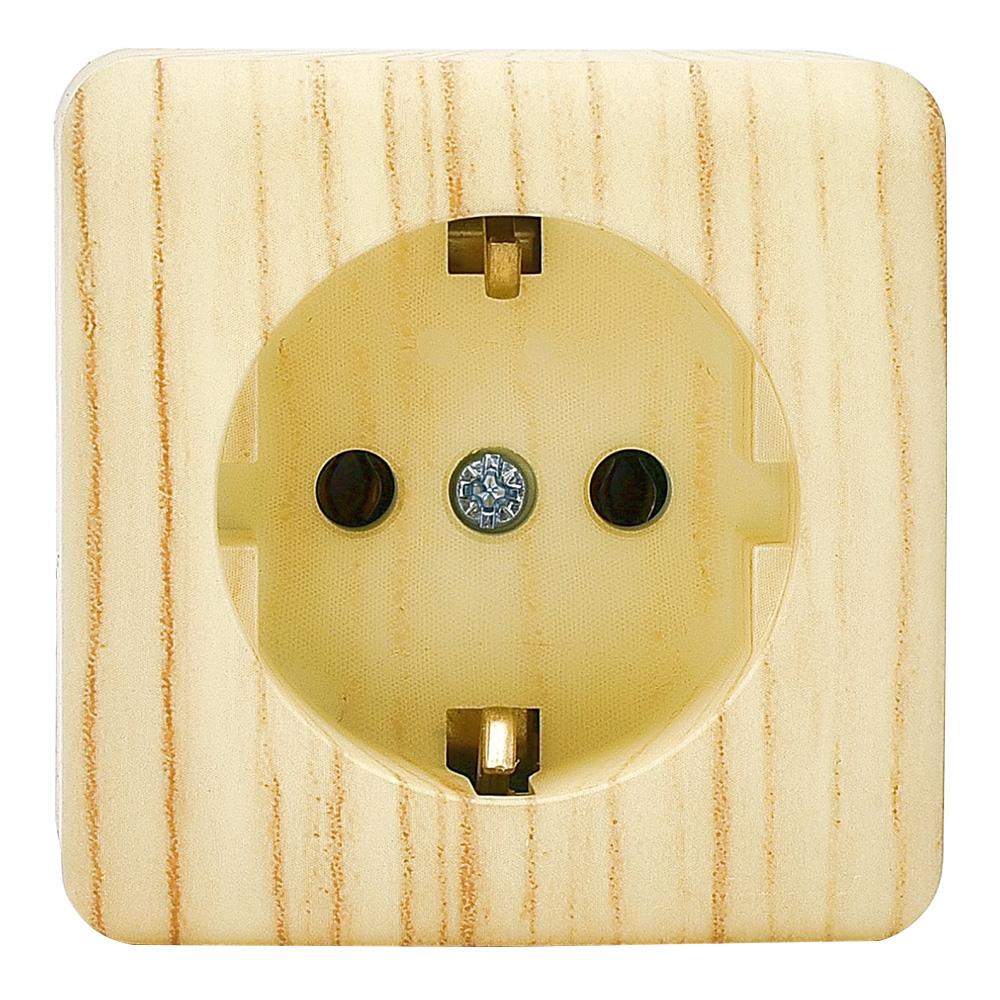 Розетка Lezard VIOLA 751-5200-122 открытая установка беленый дуб с заземлением переключатель lezard viola 751 5200 106 двухклавишный на 2 направления открытая установка беленый дуб