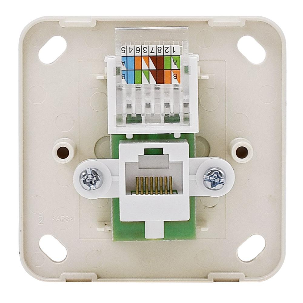 Розетка компьютерная Lezard VIOLA 751-5200-139 открытая установка беленый дуб
