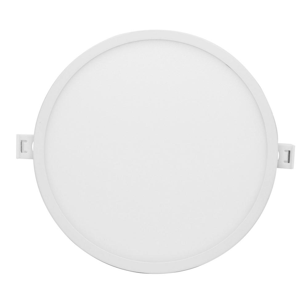Светильник светодиодный встраиваемый Apeyron d170 мм встроенный драйвер 18 Вт 220 В 4500 К дневной свет круглый IP20 белый
