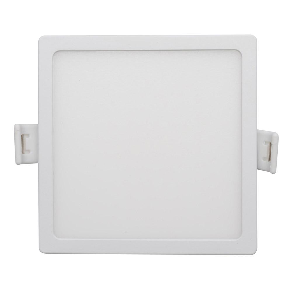 Светильник светодиодный встраиваемый Apeyron 95х95 мм встроенный драйвер 8 Вт 220 В 2700 К теплый свет квадратный IP20 белый