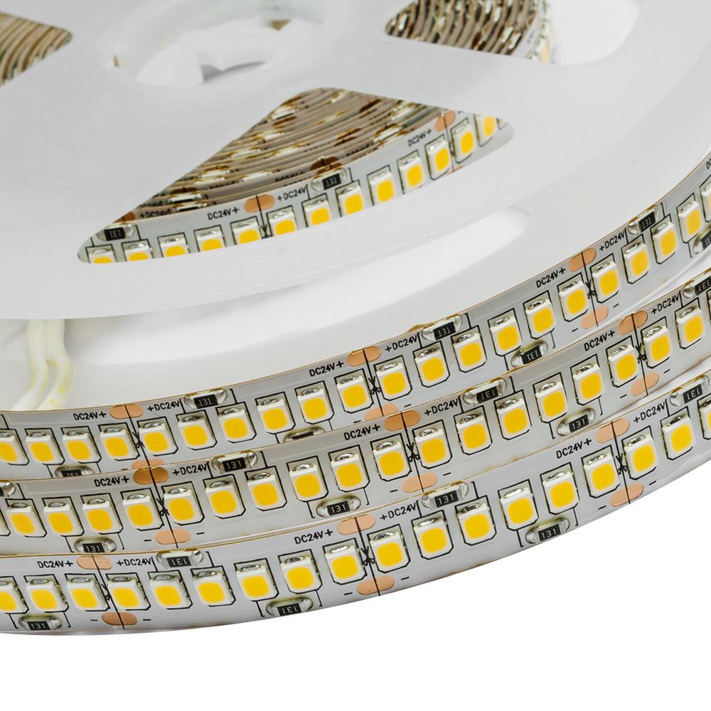 Лента светодиодная SMD 2835 Apeyron 3000 К теплый свет 26 Вт 24 В IP20 5 м