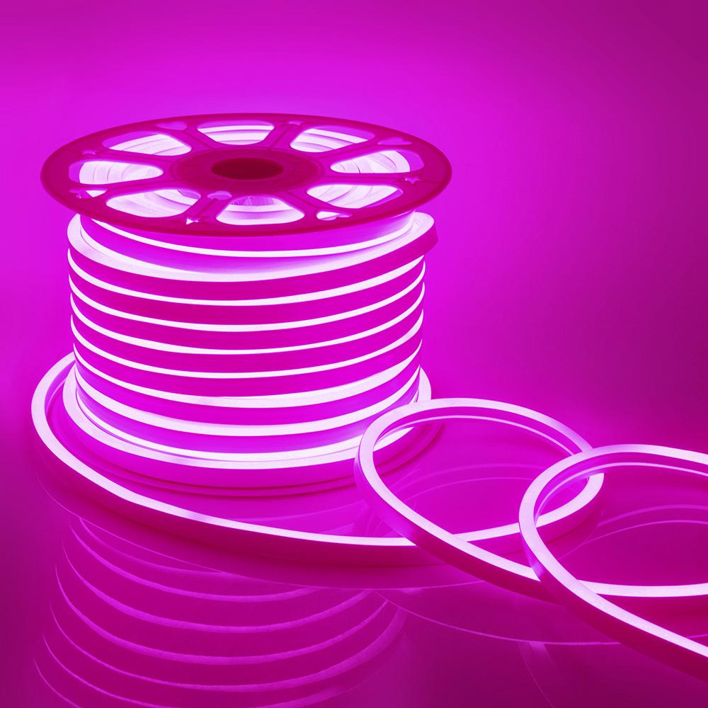 Неон светодиодный Apeyron 10-202 розовый свет 8 Вт 220 В IP65 50 м влагозащищенный