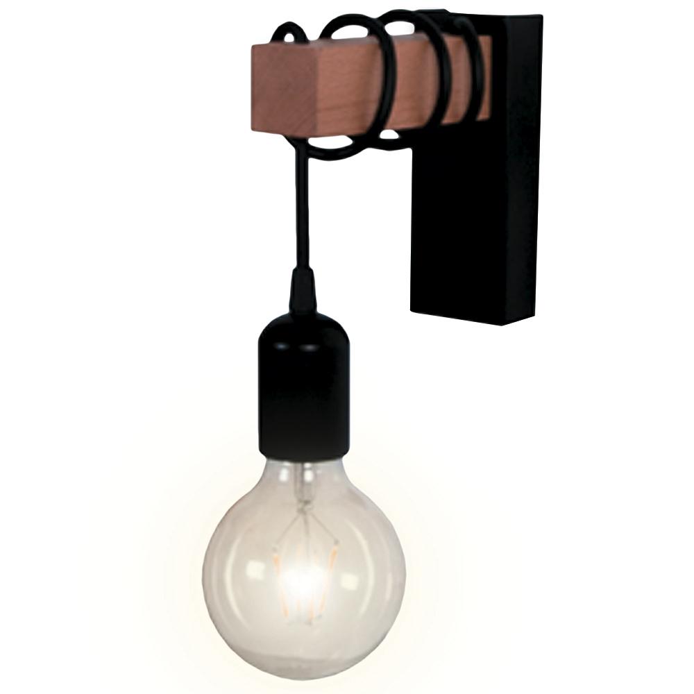 Светильник накладной Apeyron Элегант 14-42 Е27 150х60х160 мм 60 Вт 220 В IP20 многогранный черный
