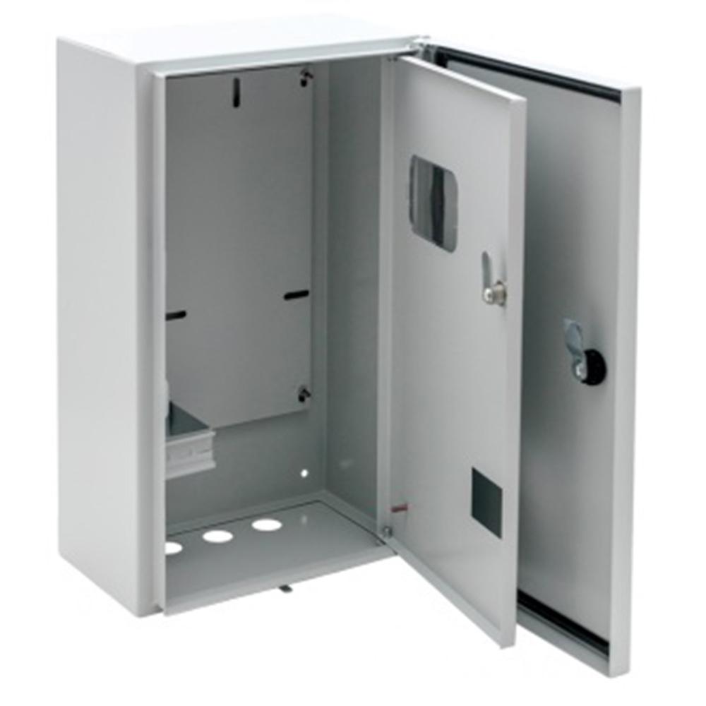 Щит учетно-распределительный навесной EKF Basic ЩУ-3/1-1 металлический IP54 445х400х150 мм 12 модулей с окном для снятия показаний счетчика