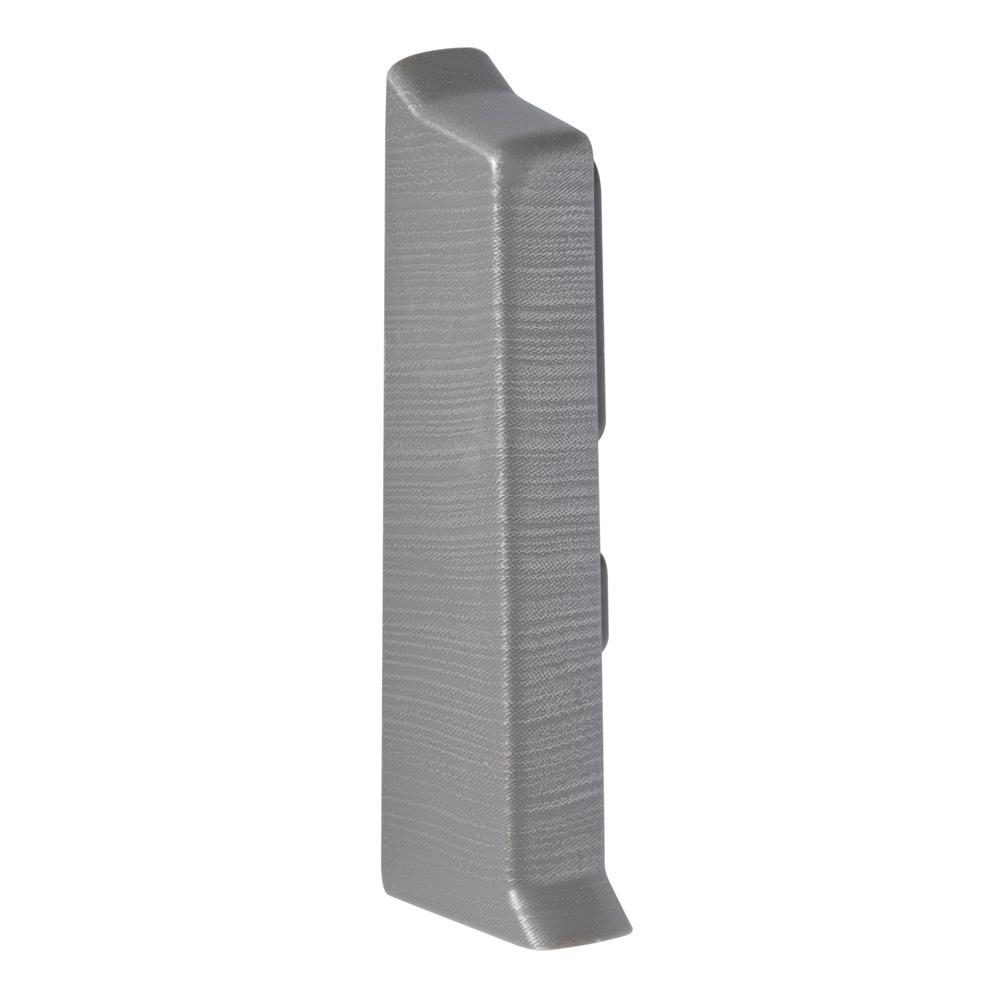 Заглушка торцевая Salag NG 62 мм алюминий структура (2 шт.)