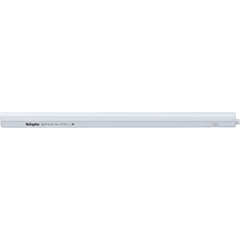 Светильник светодиодный накладной Navigator NEL-P-7-4K-LED 570х75х30 мм холодный свет опал IP33 линейный 94590