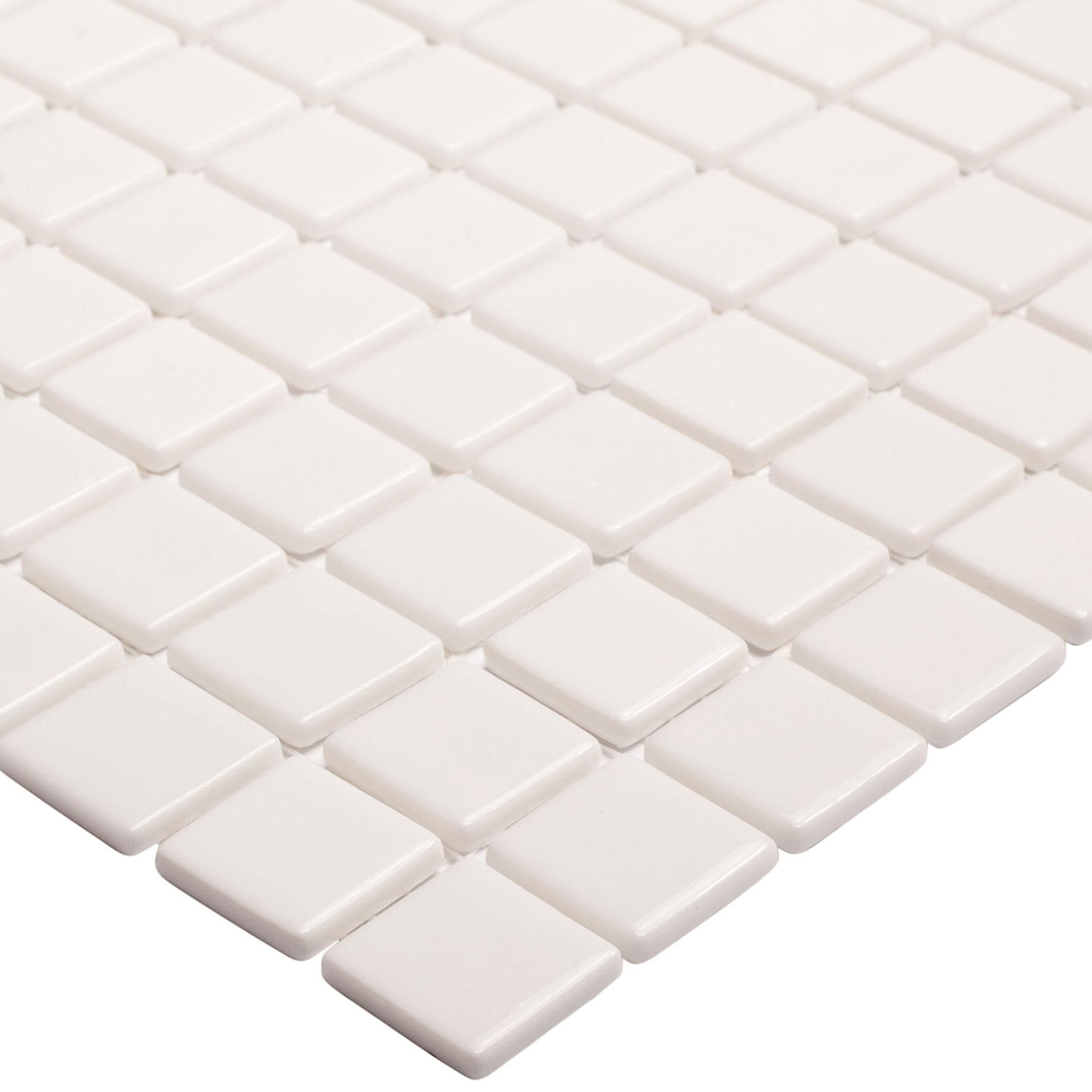 Мозаика Vidrepur Colors 100 белая стеклянная 317х317х4 мм глянцевая