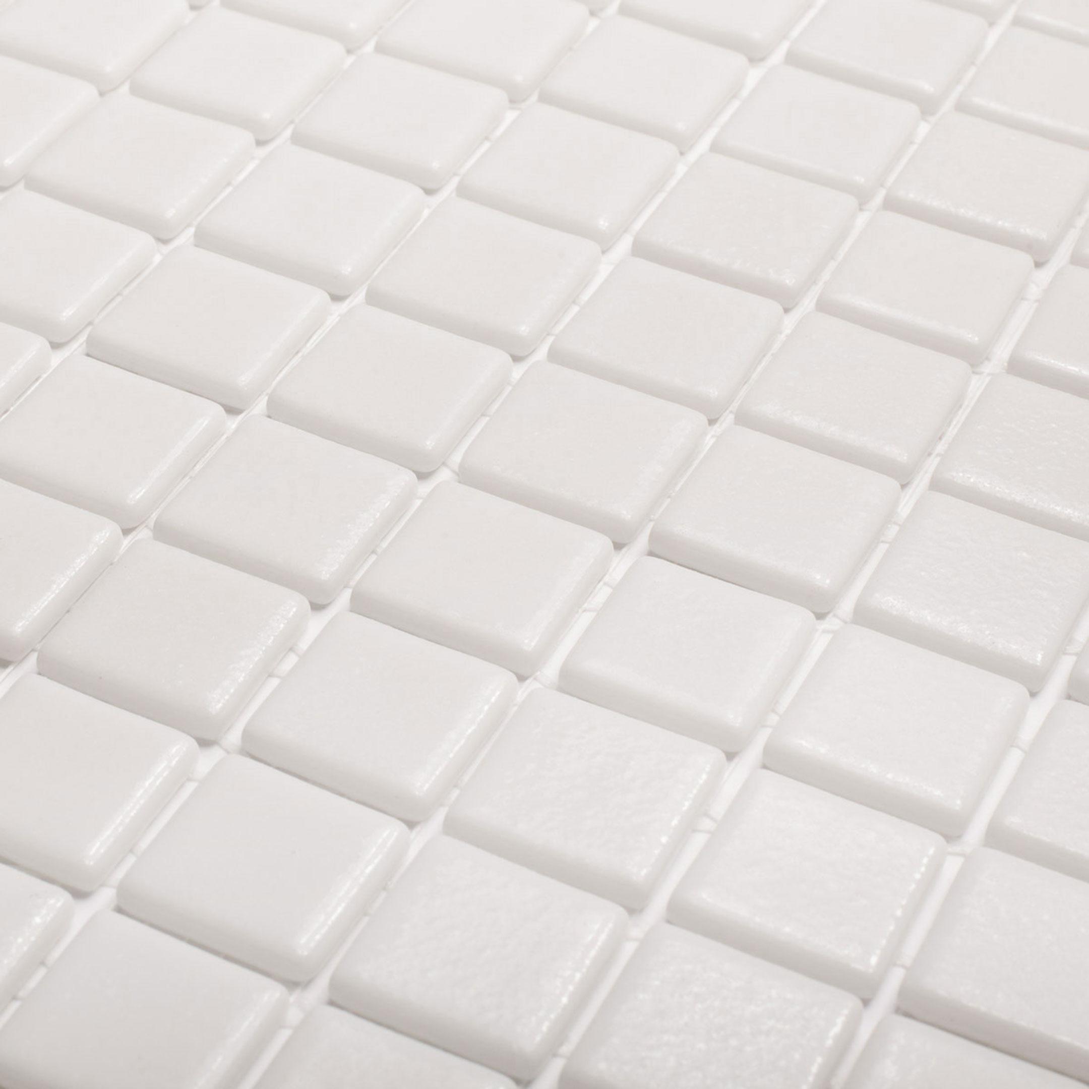 Мозаика Vidrepur Antid 100 белая стеклянная 317х317х4 мм матовая