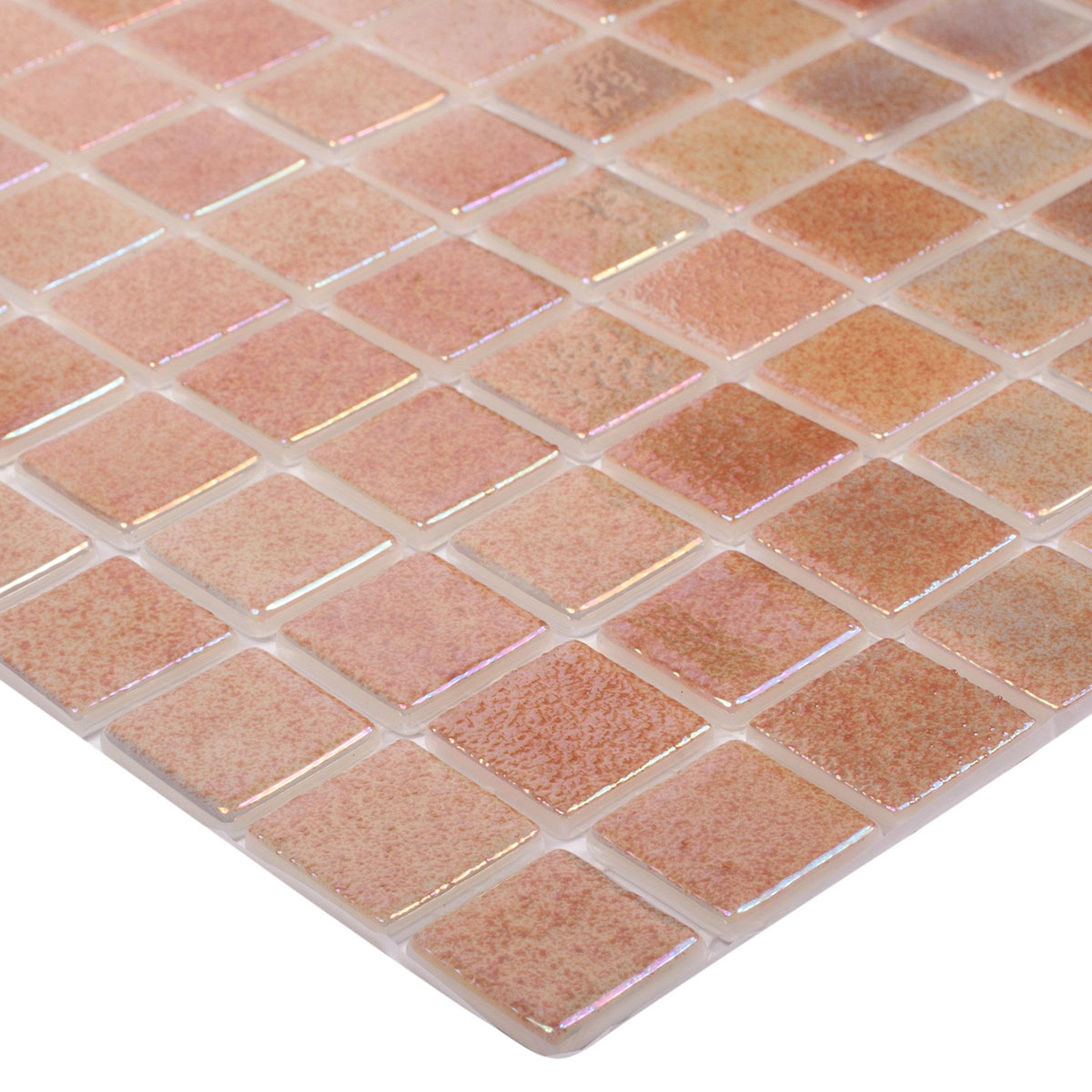 Мозаика Vidrepur Perla Beige бежевый перламутр стеклянная 317х317х4 мм
