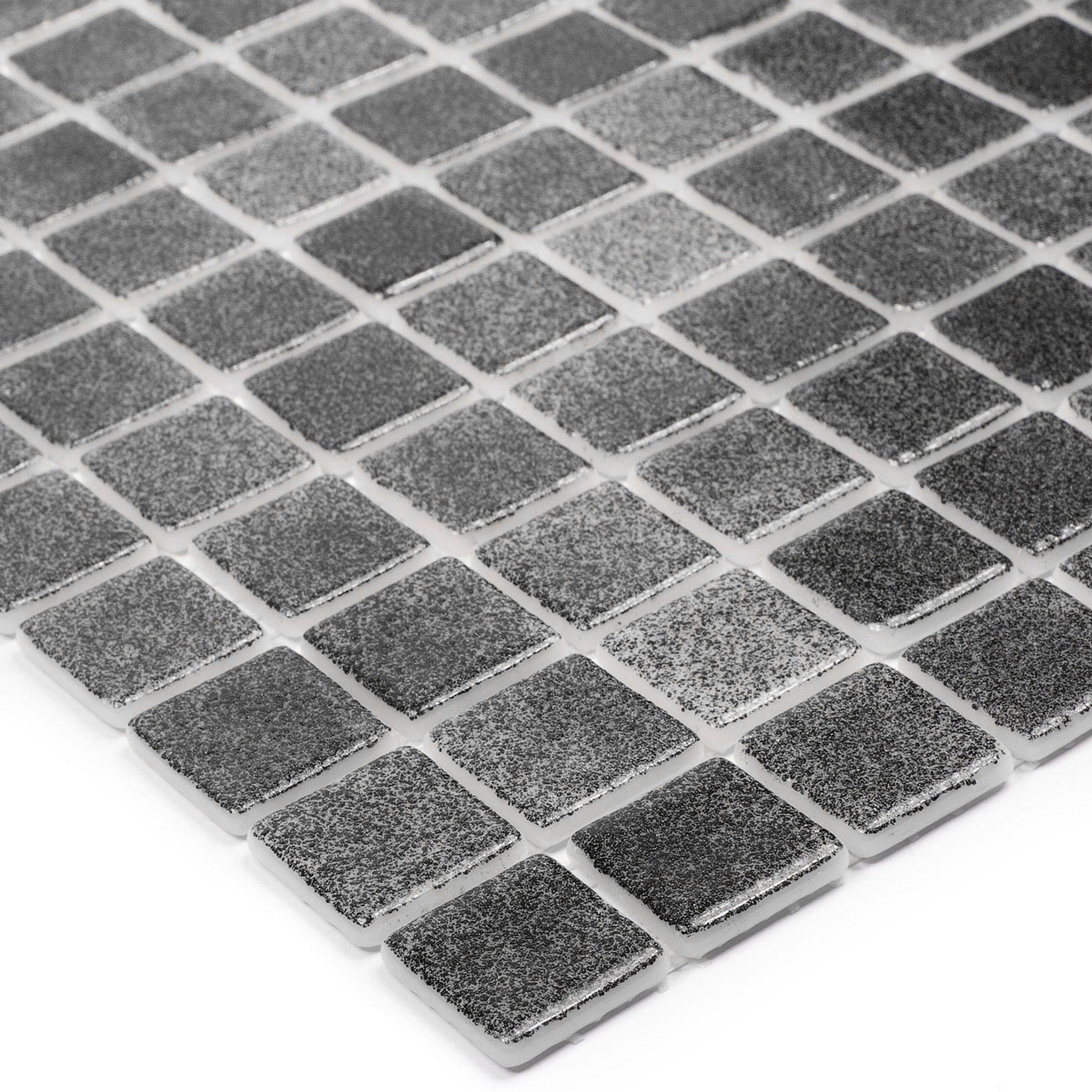 Мозаика Vidrepur Antid № 509 черная стеклянная 317х317х4 мм