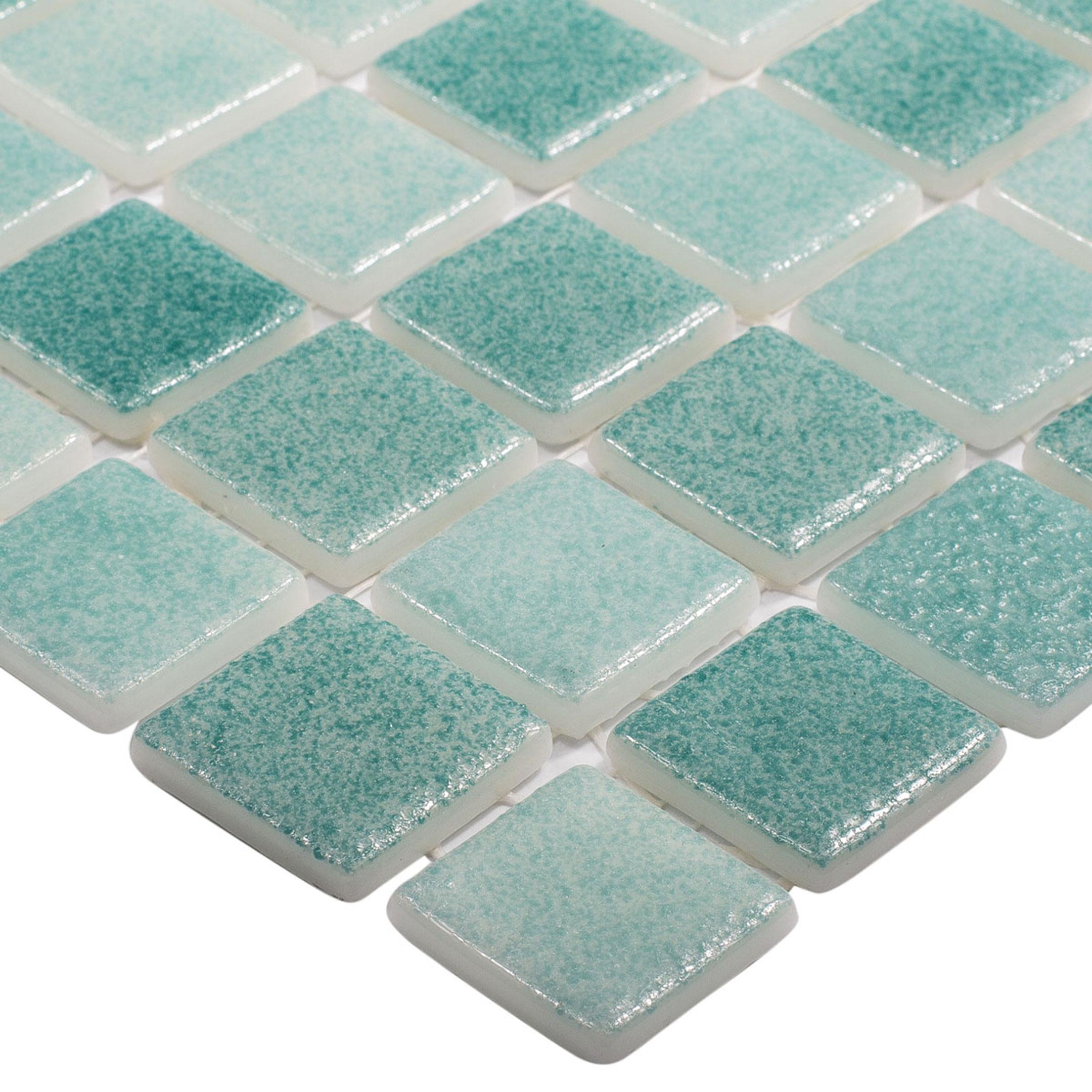Мозаика Vidrepur Antid № 503/516 микс зеленый стеклянная 317х317х4 мм