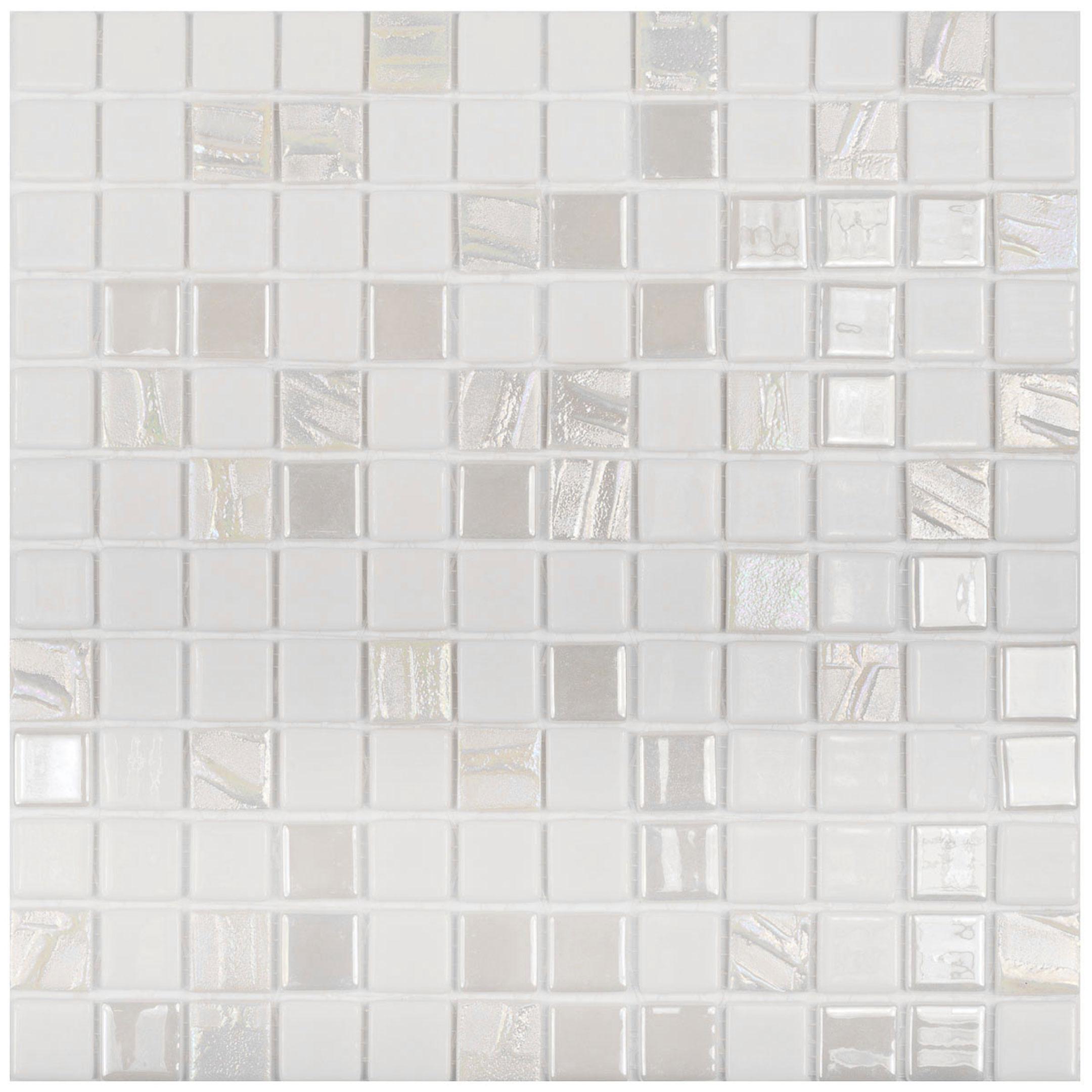 цена на Мозаика Vidrepur Astro Blanco белая стеклянная 317х317х4 мм