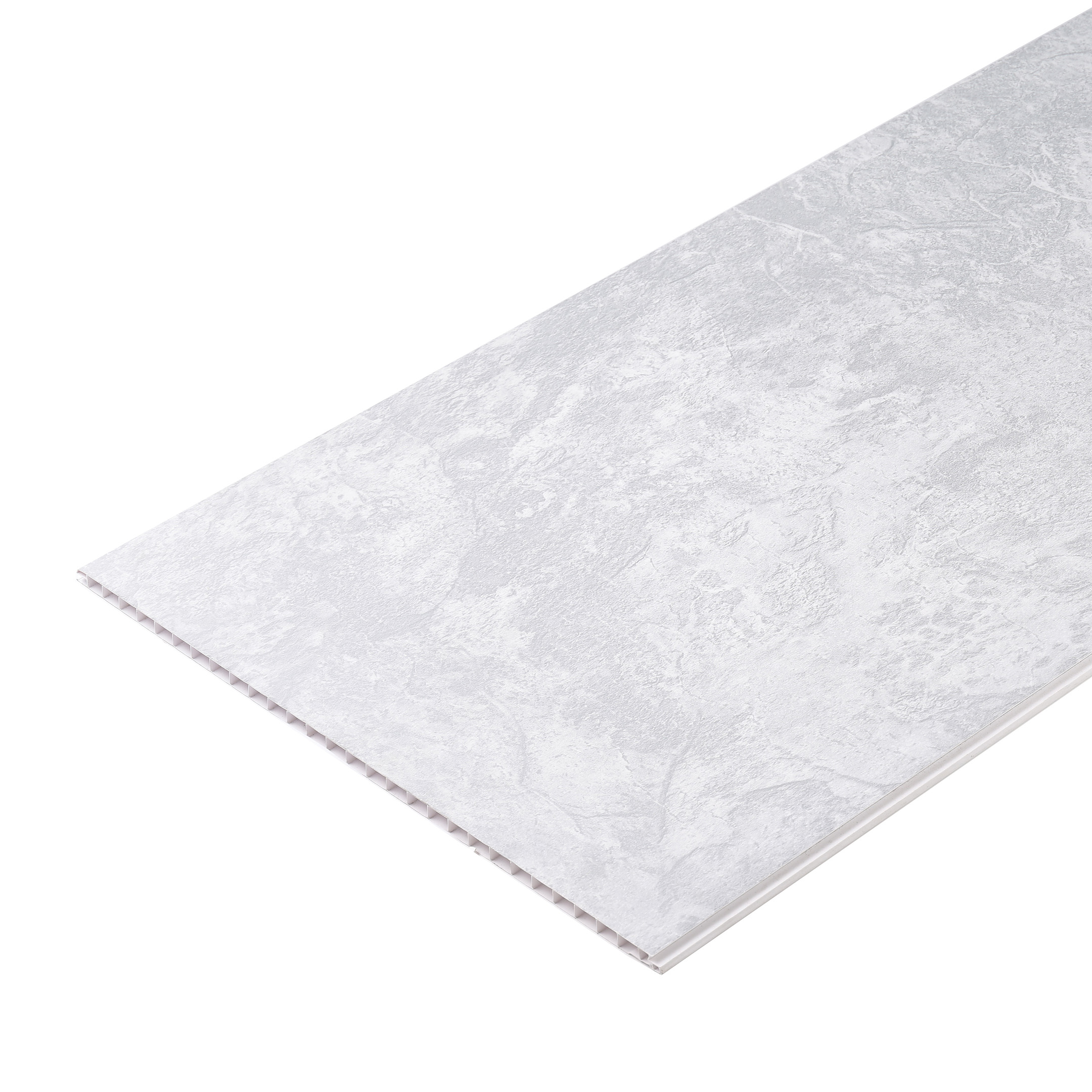 Панель ПВХ 375х2700х8 мм Venta камея белое серебро рельефная