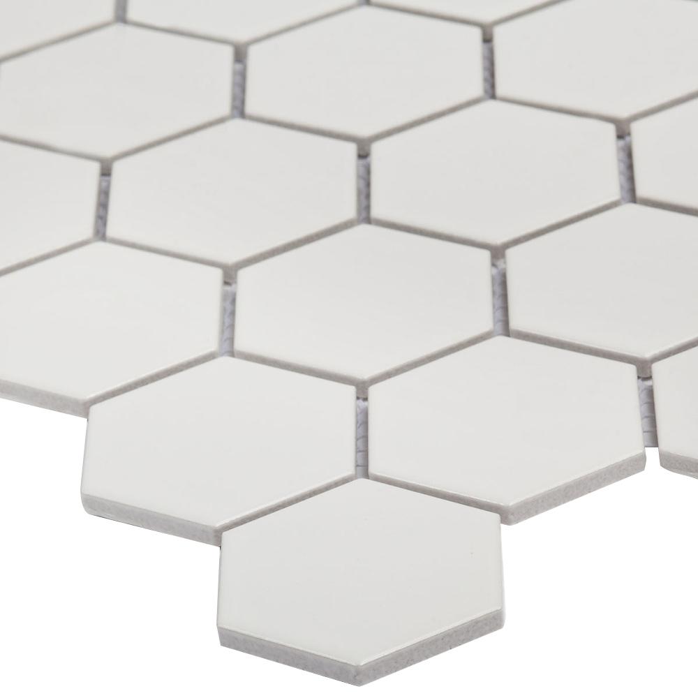 Мозаика Starmosaic Hexagon small белая керамическая 272х282х6 мм матовая